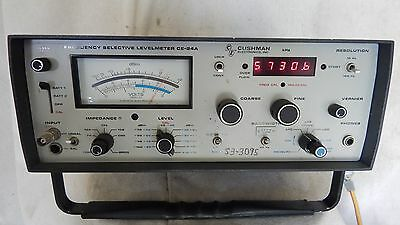 Cushman Electronics: Frequency Selective Levelmeter CE-24A