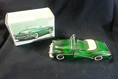 Vintage Avon 1953 Buick Skylark Clint After Shave Decanter Green Glass Empty