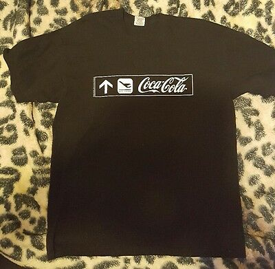 Coca Cola Promo Dont Forget Fly Black T-shirt Large Breweriana Pepsi Drink