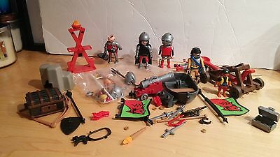 Playmobil loose lot of figures - knights and pirates, tons of pieces!