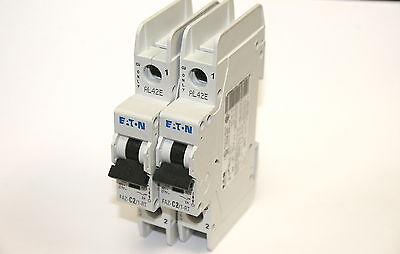 "Lot of 2 Eaton FAZ-C2/1-RT 2A Single Pole 277VAC Circuit Breakers ""NEW"""