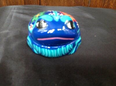 """Frog Jewelry Box Very Colorful 3 3/4X 3"""""""