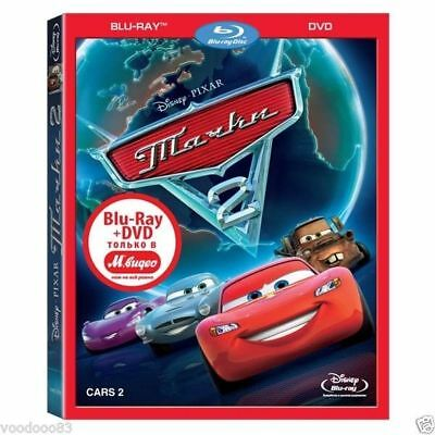 Cars 2 (Blu-ray/DVD, 2011, 2-Disc Set) Eng,Russian,Latvian,Lithuanian,Estonian