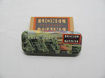 Lionel Collectible Train Watch In Tin Case Spinning Train Sound & Motion