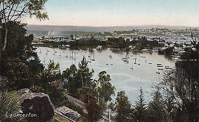 Tas. old 57  LAUNCESTON AND THE HARBOUR
