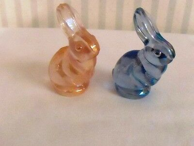 Fenton Pink And Blue Bunnies