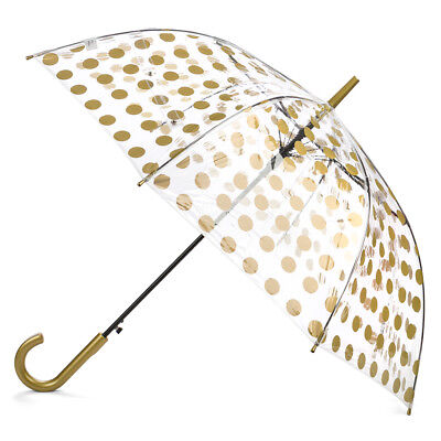 NEW Clifton Polka Dot Automatic Gold Umbrella