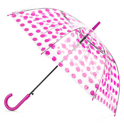 NEW Clifton Polka Dot Automatic Pink Umbrella