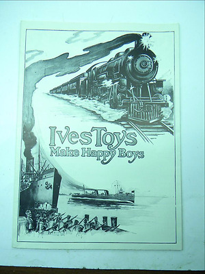 1919 Ives Trains Catalog  1 Gauge and O Gauge  Don LaSpaluto Reproduction