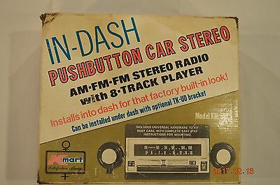 In Dash 8 Track Player AM FM Stereo Model KM-561 KMART NEW IN BOX