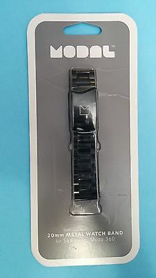 Modal 20mm Metal Watch Band for Moto 360 - Black MD-SWBM20