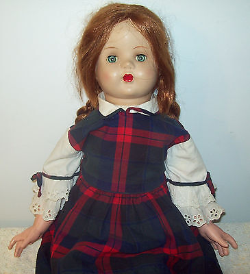 """Vintage PLAYTHING Composition Head Doll 29"""""""