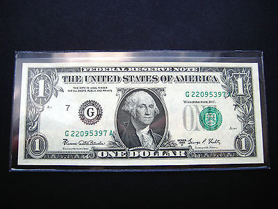 $1 1969 D Chicago***shift Error*** Federal Reserve Choice Unc Bu Note