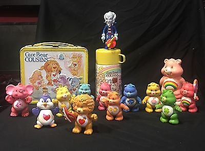 Vintage CARE BEARS & COUSINS of PVC Poseable figures 1980's And Extras