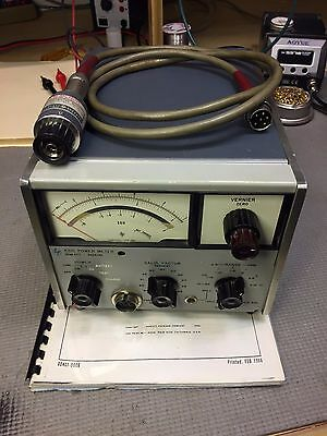 HP / Keysight 431C Analog Power Meter with HP 478A Thermistor & Cable WORKS