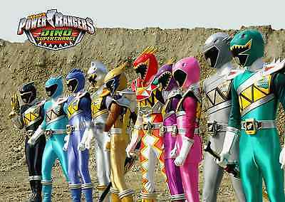 Unofficial POWER RANGERS DINO CHARGE (2) *A3* print Poster