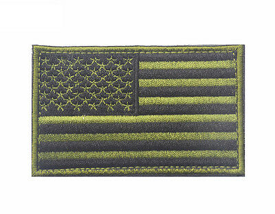 Usa American Flag Tactical Us Army Morale Military Embroidered Hook & Loop Patch