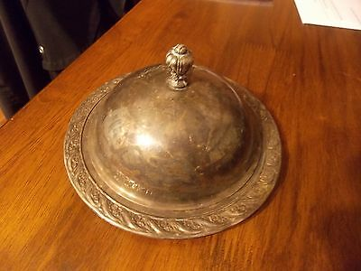 """Vintage/antique Wm Rogers Silver Plated """"spring Flower"""" Covered Butter Dish"""