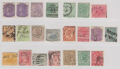 Australia States Small Collection of 22 Stamps Used