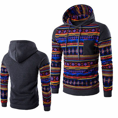 US Stock Men's Fashion Hoodie Warm Hooded Sweatshirt Coat Jacket Outwear Sweater