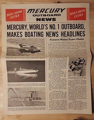 Vintage 1960s Mercury Outboard News  Motor Boat Show Extra.