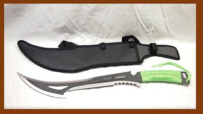 Black Renegade Zombie Hunter Killer Full Tang Machete Sword w Sheath - sharp
