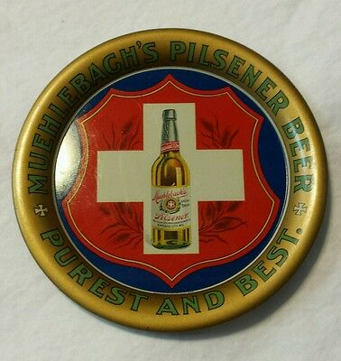 1900 Muehlebach Brewing Company PILSENER BEER GRAPHIC TIP TRAY - NEAR MINT!