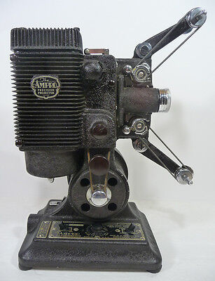Vintage AMPRO 16MM PRECISION MOVIE PROJECTOR (1935) Working Condition! With CASE