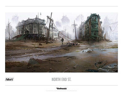 Fallout North End Street Limited Edition Lithograph #148/500 (Mint)