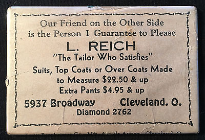 Advertising Mirror L. Reich, Tailor,  5937 Broadway, Cleveland, Ohio