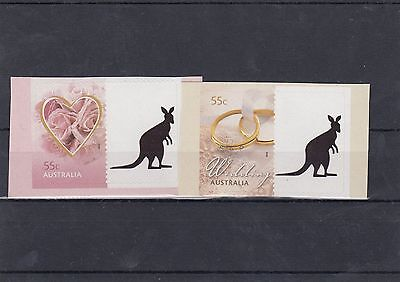 Australia 55c Personalised Tab Stamps x 2 different with Kangaroo Tab lot2