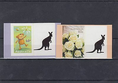 Australia 60c Personalised Tab Stamps x 2 different with Kangaroo Tab lot4
