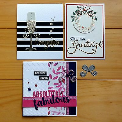 IMPRESSION OBSESSION Small Bow Christmas Birthday Celebration Cutting Die BNIP
