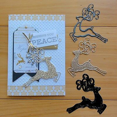 "Ultimate Crafts Prancer Christmas Reindeer Cutting Die ""reduced"" - Bnip"
