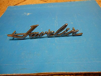 Vintage 1968-74 Amc Javelin Car Script/emblem Part #3614686 With Posts