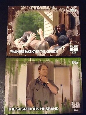 2016 Topps The Walking Dead Season 5 The Suspicious Husband Mold Parallel/25