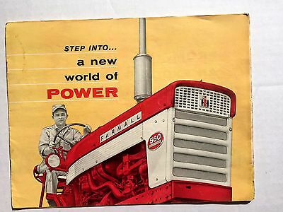 1950s International Harvester Farmall Tractor Brochure Agriculture Equipment