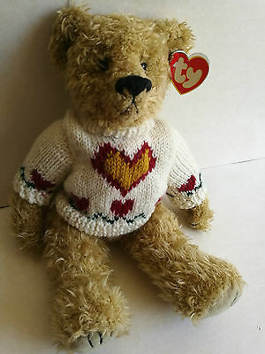 TY HEARTLEY BEAR from ATTIC TREASURES COLLECTION LOVE CONQUERS ALL with tag