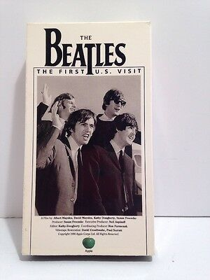 THE BEATLES FIRST U.S. VISIT VHS TAPE, 1990, Apple