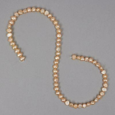Nuggets of light orange freshwater cultured pearls