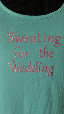 "Bride Shirt tank  "" sweating the wedding "" top size Medium womens"