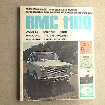 BMC 1100 Austin Morris 1100 Workshop Manual 1962 - 68