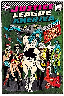 JUSTICE LEAGUE OF AMERICA #54 (FN+) The Royal Flush Gang vs. JLA - The Rematch!