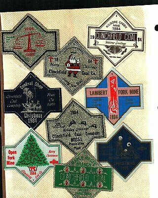 21 Different Nice X-Mas Set Clinchfield Coal Co. Coal Mining Stickers # 127