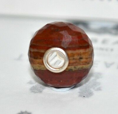 """TROLLBEADS GENUINE SSilver 925RARE""""BROWN/YELLOW CHALCEDONY"""" NEW RRP$95 - 50% OFF"""