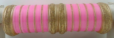 Baby Pink Traditional Lct Bridal Dulhan Choora Chura Bangles Wedding Jewelry