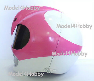 """Outside Cliplock! Cosplay! Mighty Morphin Power Rangers """"PINK"""" 1/1 Scale Helmet"""