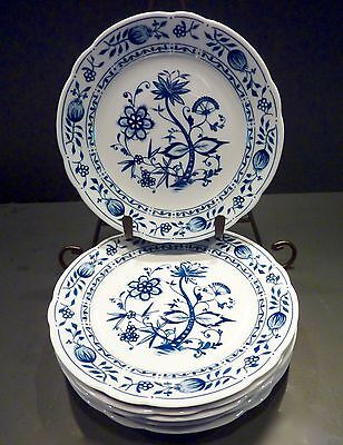 6 Blue Onion Kahla Zwiebelmuster Blue & White Salad Dessert Plates, Great Color