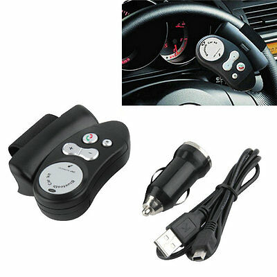 Steering Wheel Hands Free Wireless Bluetooth Car Speaker Phone Kit For Mobile OB