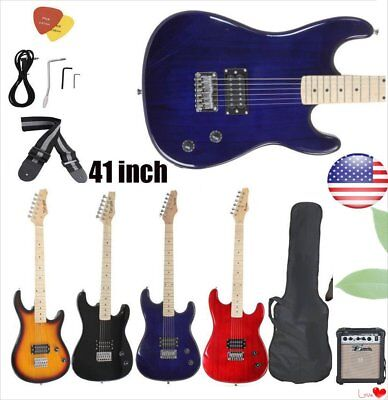 NEW Beginner Electric Guitar w/ Package Case Strap Picks Tuner Starter Pack MG